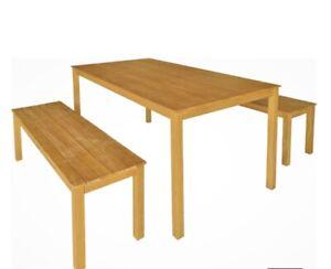 Outdoor timber dining set