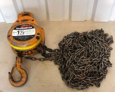 Harrington Cf015 1-12 Ton Chain Hoist With 30 Chain 95186