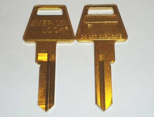 American Lock R1 Restricted Key Way Key Blank 6 Pin Lot of 2