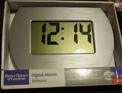 Better Homes And Gardens Atomic Digital Wall Clock With Stainless Steel Finish