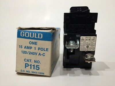 Chipped Pushmatic 15 Amp 1 Pole P115 15a 1p Tested 120240 Vac Circuit Breaker