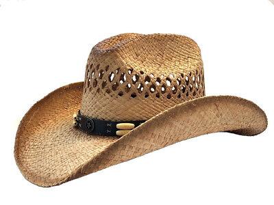 """""""Lone Star"""" Vented Cattleman Raffia Straw Cowboy Hat Straw Cowboy Hat Hats"""