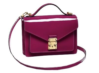 Louis Vuitton New Rose Pink Patent Vernis Leather Monceau BB Handbag Purse