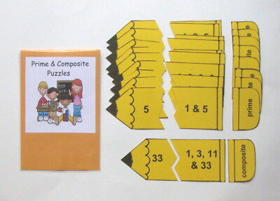 Teacher Made Math Center Learning Resource Game Prime   Composite Numbers