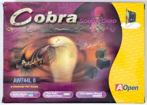 AOPEN AW744L II - Yamaha XG YMF744 YMF724 OPL3 PCI retro sound card - BOXED NEW