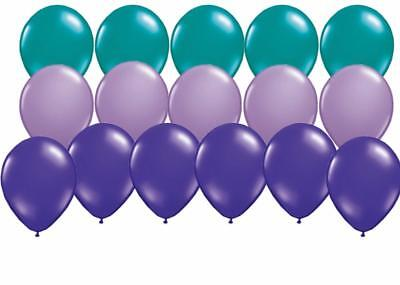 18 PC Purple Lavender and Teal Mermaid Coordinating Latex Balloons FREE - Teal And Lavender