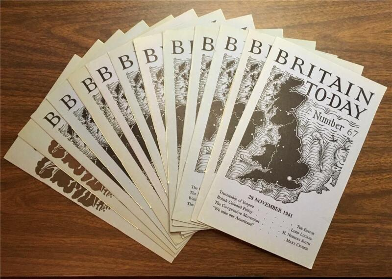 """Britain To-Day"" 13 WWII Booklets 1940-1941 Wartime Publications Bi-Monthly"