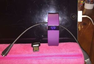 Fitbit Charge HR purple/pink (small) $80