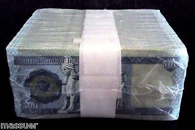 Iraqi Dinar 5000  10 X 500 Dinar Notes   Crisp Uncirculated Free Shipping!