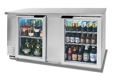 Beverage-air 69 Two-section Backbar Glass Door Cooler W Ss Exterior