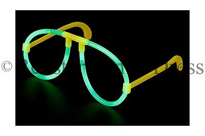 GLOW IN THE DARK GLASSES GREEN NEON GLOW STICK HEN PARTY FESTIVAL FANCY DRESS - Neon Glow In The Dark Dresses