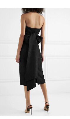 Rebecca Vallance Strapless Dress With Bow HARLOW New NWT $370 size 8