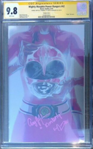 Mighty Morphin Power Rangers #42 foil variant__CGC 9.8 SS__signed Amy Jo Johnson