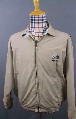 Mens M Nautica Linen blend reversible Atlantic Crossing full zip jacket Atlantic Zip Jacket
