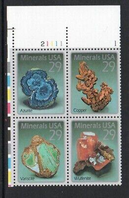 ALLYS STAMPS US Plate Block Scott #2700-3 29c Minerals [4] MNH F/VF [STK]