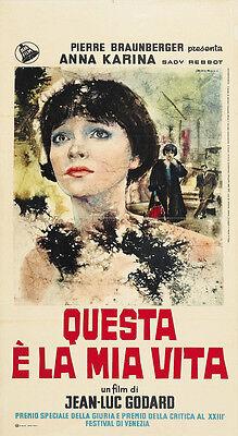 Vivre sa vie: Film en douze tableaux (1962) Jean-luc Godard movie poster print
