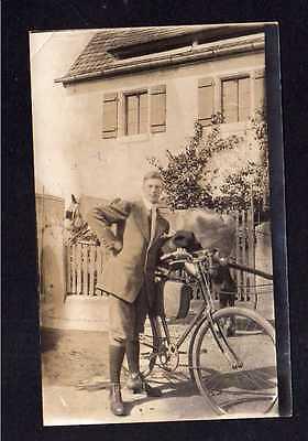 113248 AK Fahrrad um 1925 Fotokarte