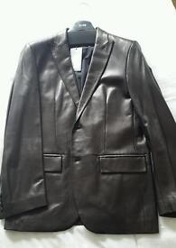 Hugo Boss Leather Jacket. UK Large size
