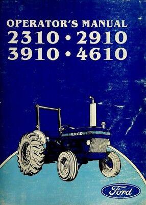 Ford 2310 2910 3910 4610 Tractor 1983-84 Owner Operators Manual Se 4057 Digital