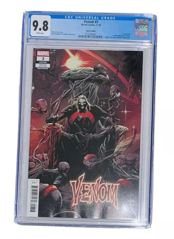 VENOM #3 3rd Print CGC 9.8 1st Appearance & Cover Knull Light Scratch Read Desc