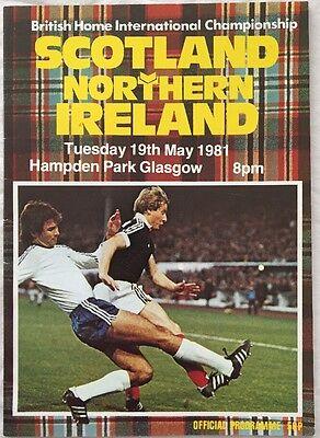 Scotland v Northern Ireland Programme 19.05.1981 Home International @ Hampden
