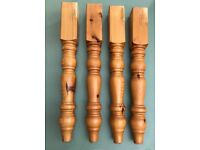 Farmhouse Solid Wood Table Legs x4