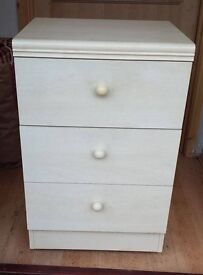 REDUCED! Cream Bed Side Tables - Set of Two - BARGAIN!
