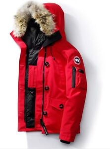 Canada goose montebello red jacket coat size small  MINT