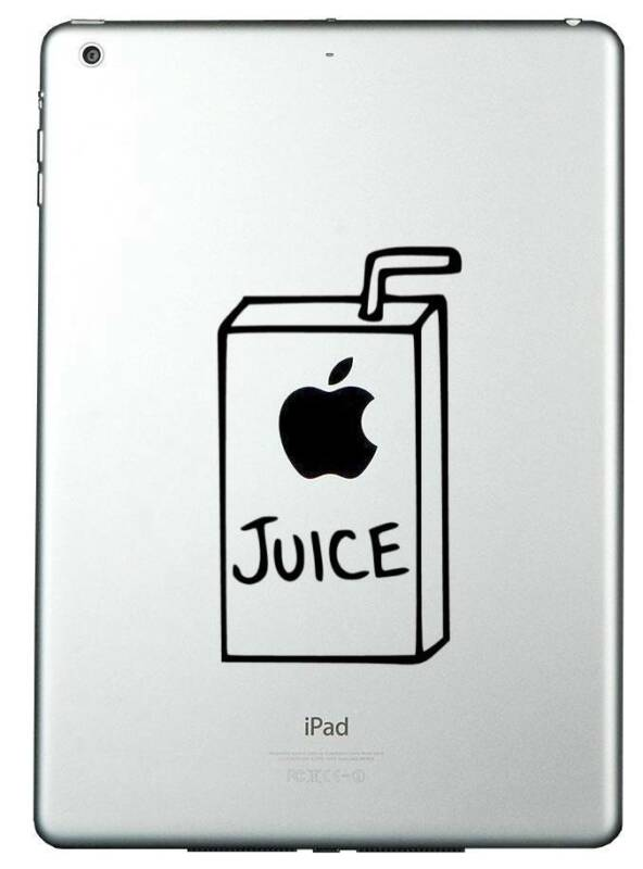 Apple Juice ipad ipad 2 ipad air  funny novelty Vinyl Decal Sticker фото