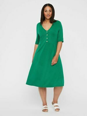 Junarose Button Front Lush Meadow Swing Dress - Size: 24/26