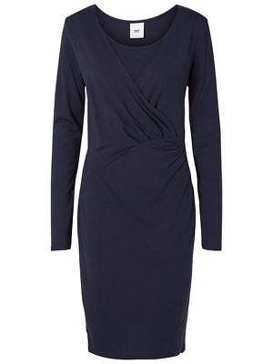 MAMALICIOUS - BNWT - Petit Tess Maternity Nursing Navy Dress - Extra Large