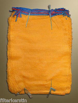 100 Raschelsäcke,Holzsäcke,Kartoffelsäcke 12,5 kg mit Zugband