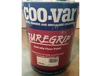 COO CAR COOVAR SUREGRIP ANTI SLIP FLOOR PAINT WHITE 5 LITRE TINS. MULTI SURFACE.