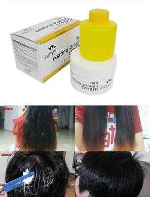 Hair Coating Straight Cream Curly Hair Straightening  Kit / Straightener