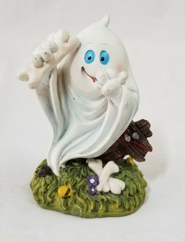"Ghost ceramic figurine - Halloween decoration - 4-1/2"" tall"
