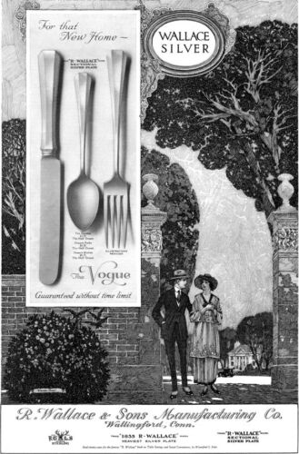 Franklin Booth Young Couple Estate WALLACE SILVER The Vogue 1919 Large Print Ad