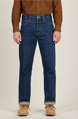 Best Made Co. Men's Blue Relaxed Fit One Year Wash Japanese Selvedge Denim (Best Mens Selvedge Jeans)