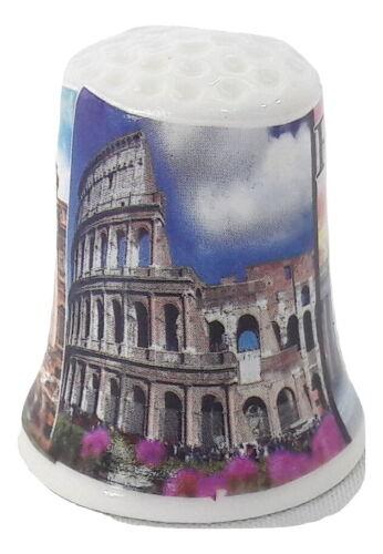 New souvenir thimble ceramics Italy Rome Colosseum / Fontana di Trevi / Vatican