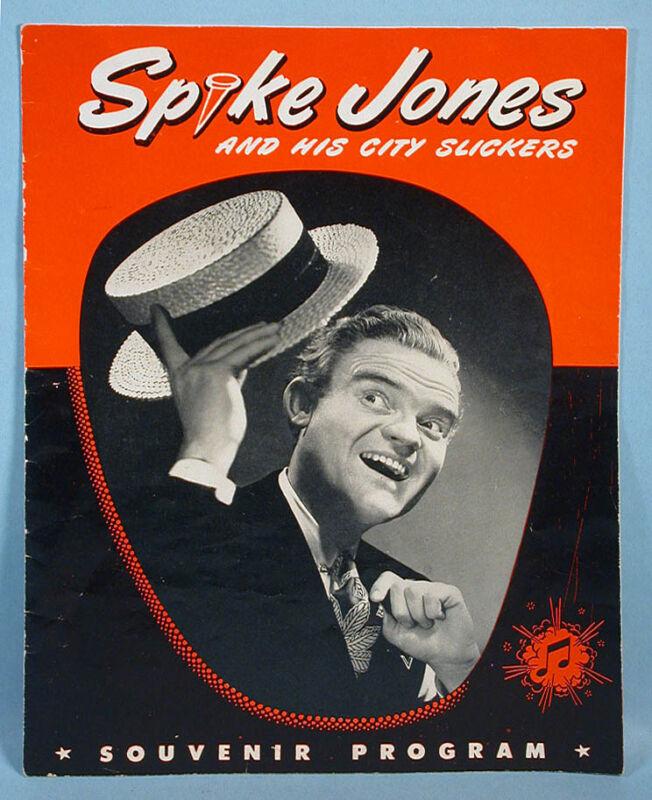 1940-1950s Spike Jones and His City Slickers Original Live Performance Program