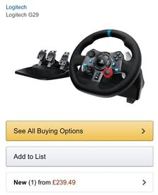 Logitech G29 Racing Wheel Ps4/Ps3