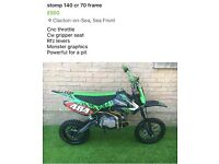 Stomp 140 pitbike not ktm yz kx cr rm