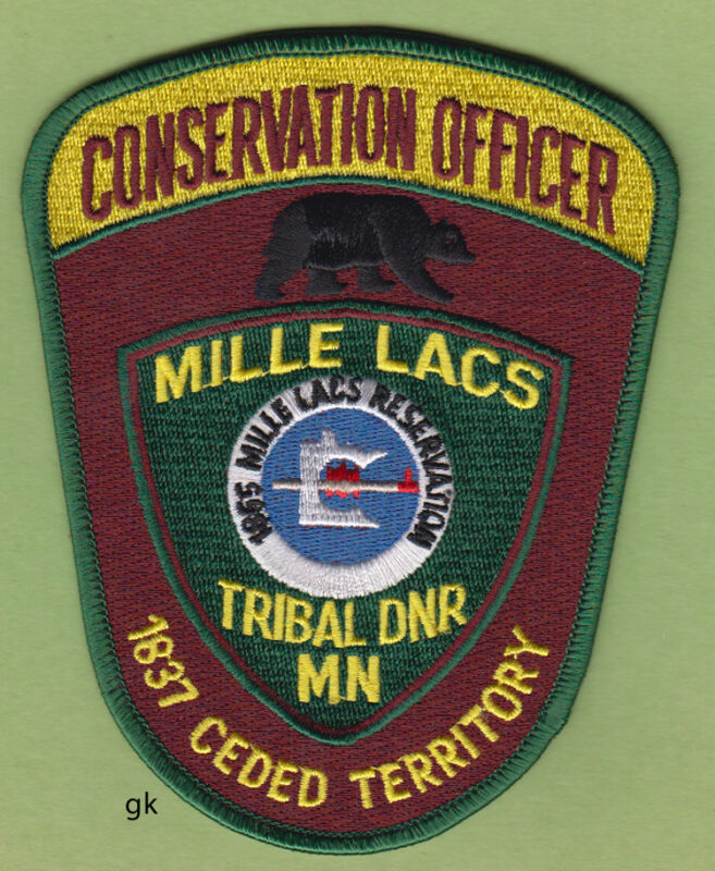 MILLE LACS MINNESOTA TRIBAL CONSERVATION OFFICER POLICE SHOULDER PATCH