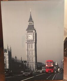 Lovely London/Big Ben Canvas Picture