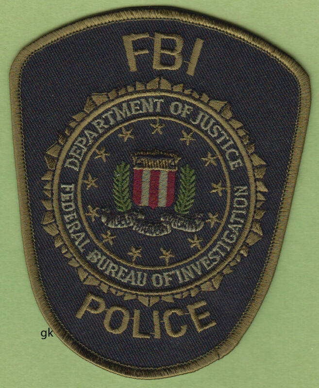 FBI DEPARTMENT OF JUSTICE POLICE SHOULDER PATCH (SUBDUED)