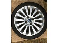 "16"" FORD FIESTA MK 7/8 SPOKE 4 STUD ALLOY WHEEL & 195/45 R16 TYRE 6mm X8"