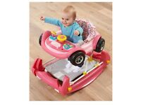 RESERVED Mothercare 2 in 1 pink car baby walker