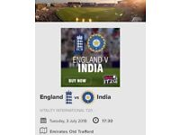 1st T20 ENGLAND VS INDIA ON 3RD JULY - OLD TRAFFORD, MANCHESTER