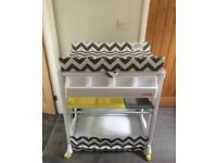 My Babiie Chevron Changing Table with Bath - hardly used RRP £109