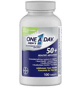 Bayer einer pro Tag Herren- 50 Plus Gesundheit Multivitamin Tabletten 100 Anzahl - Gesundheit Multivitamin
