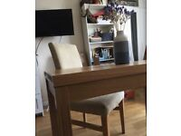 Solid Oakwood table for two with free chair